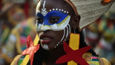 Dancers perform on the first day of the Haitis national carnival parade in Port au