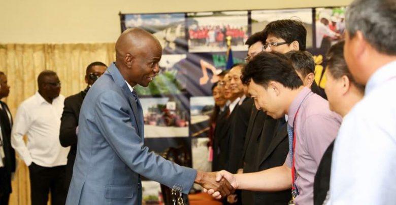 Le Président Jovenel Moise reçoit une délégation de 21 techniciens venue du Taiwan