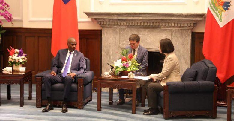 le président haïtien Jovenel Moïse et son hommologue taïwanais TSAI Ing wen lors dun entretien hier mardi 29 mai 2018. crédit photo @moisejovenel1