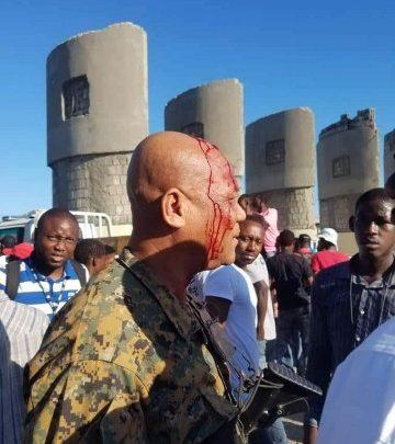 Policier USGPN Jets de pierres et tirs au Pont Rouge