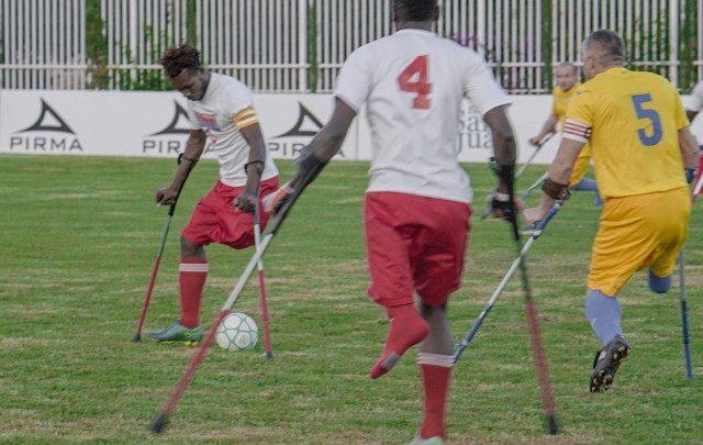Coupe du monde des amputés phase de jeu