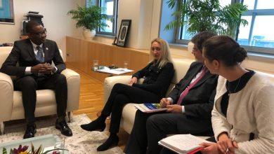 Le ministre Jobert C. Angrand ainsi que des représentants du FIDA durant son voyage officiel en Italie Crédit Photo MARNDR