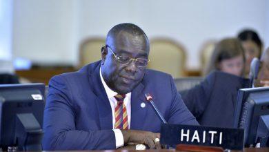 Haitis ambassador to the United Kingdom Bocchit Edmond