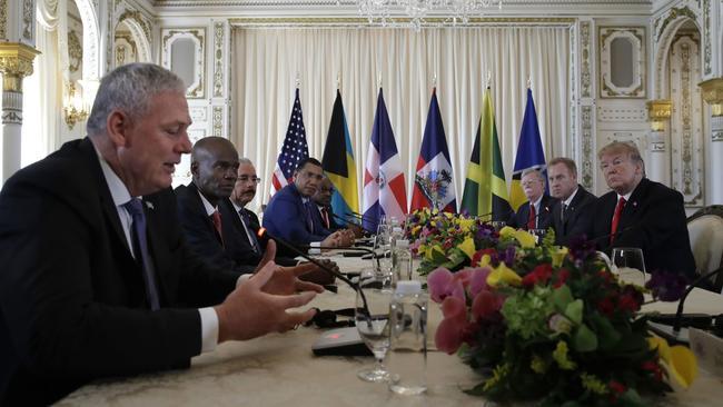 Trump and Caribbean leaders foto Carolyn Kaster AP