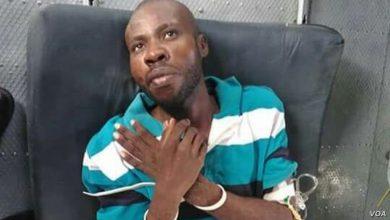 Arnel Joseph après son arrestation Photo VOA
