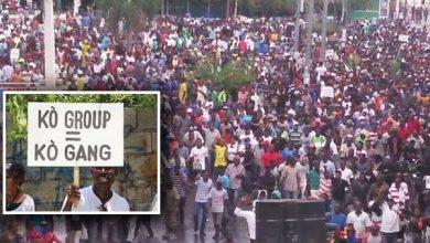 Core Group sign credit the Haiti Sentinel